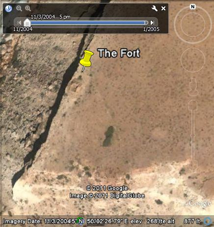 The fort from Google Earth, 2004 imagery