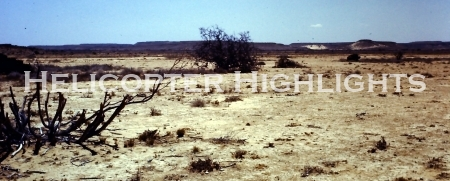 Somalia's semi-arid desert landscape in drought mode
