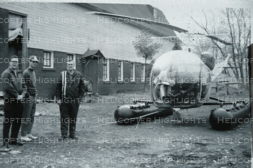 Viking's first hangar in the background - 1969